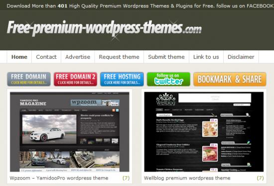 Premium WordPress temaların ücretsiz olduğu site