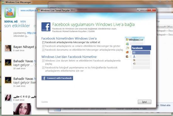 Yeni Windows Live Messenger ile Facebook