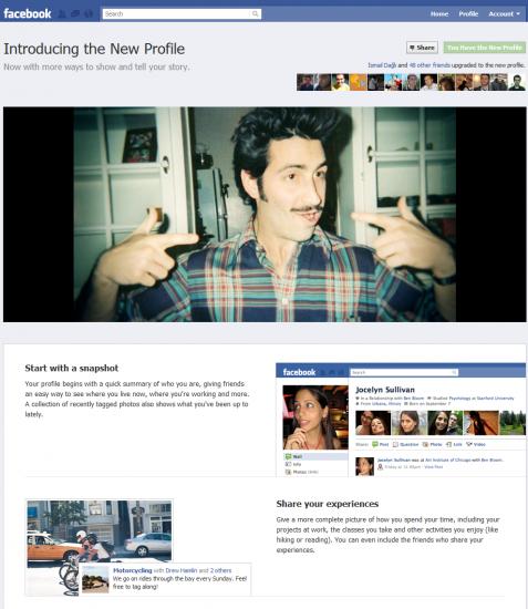 Yeni Facebook profili