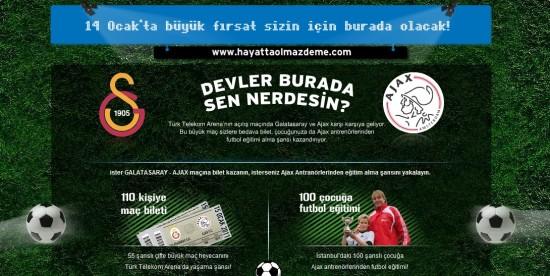 Hayatta Olmaz Deme - AEGON, Türk Telekom Arena ya davet ediyor
