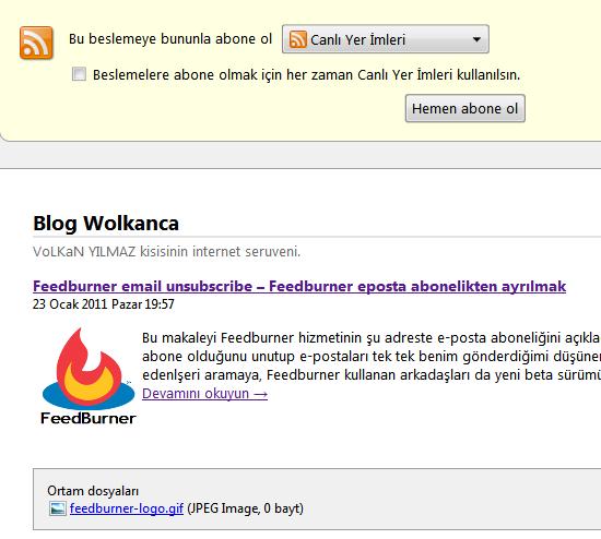 Wordpress de Rss lere resim eklemek
