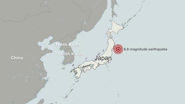 Japonya da 8.9 luk deprem