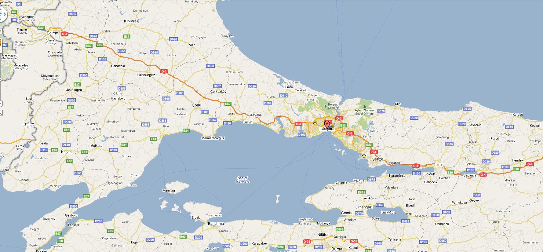 istanbul marmara harita