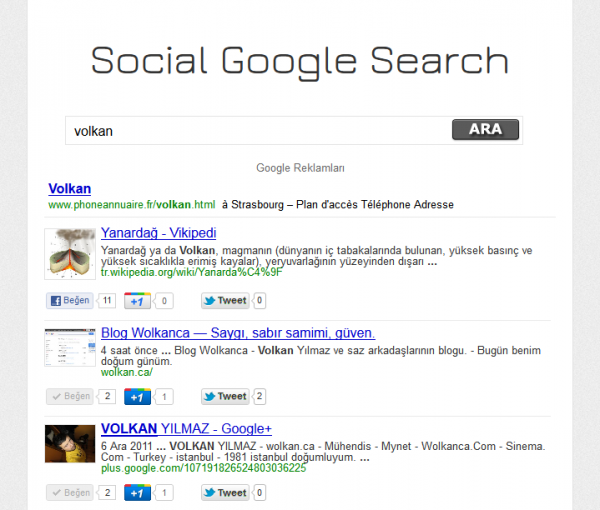 SGS - Google Social Search