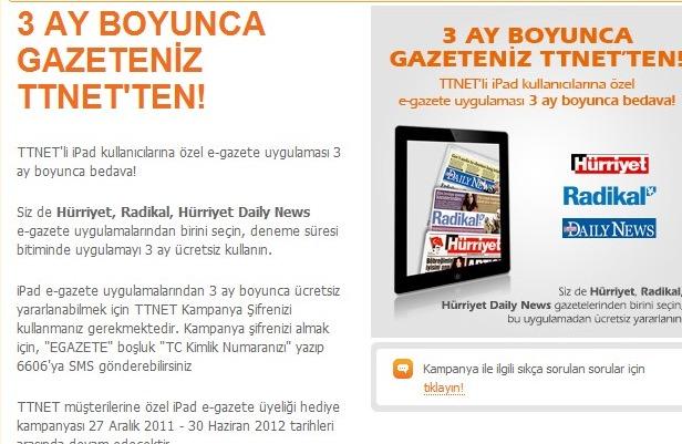 TTNET iPad Kampanya