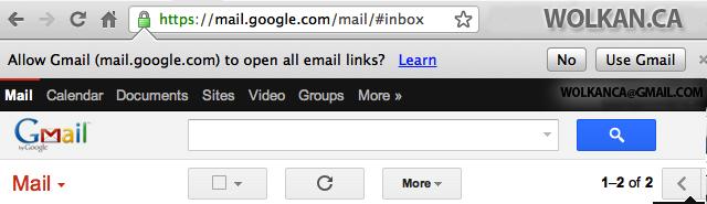 Google Chrome  tips for mailto links