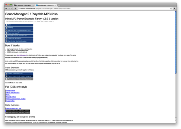 html5 soundmanager7