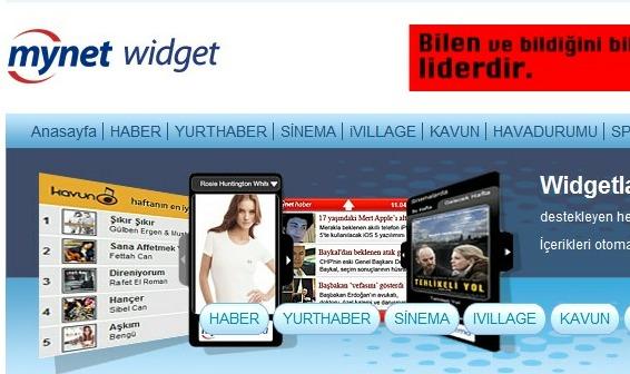 Mynet Widget Uygulamaları