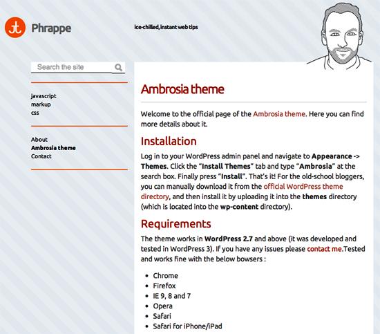 ambrosia -2011 en iyi ücretsiz temalar