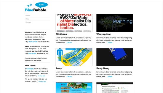 bluebubble -2011 en iyi ücretsiz temalar