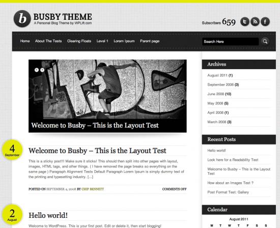 busby wordpress theme -2011 en iyi ücretsiz temalar
