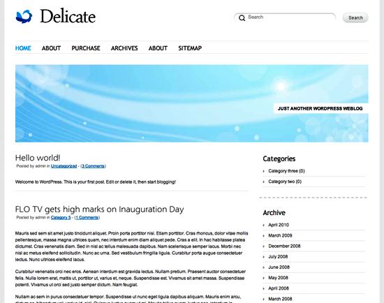 delicate -2011 en iyi ücretsiz temalar