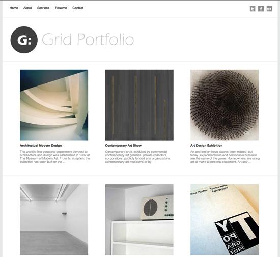 grid portfolio -2011 en iyi ücretsiz temalar