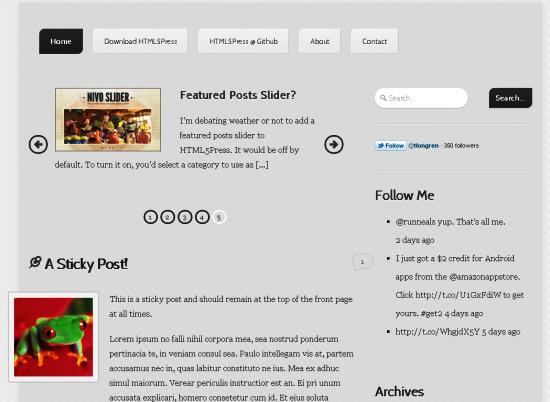 html5press -2011 en iyi ücretsiz temalar