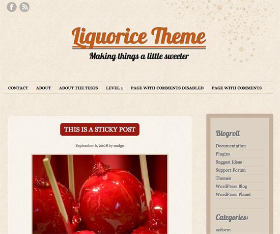 liquorice -2011 en iyi ücretsiz temalar