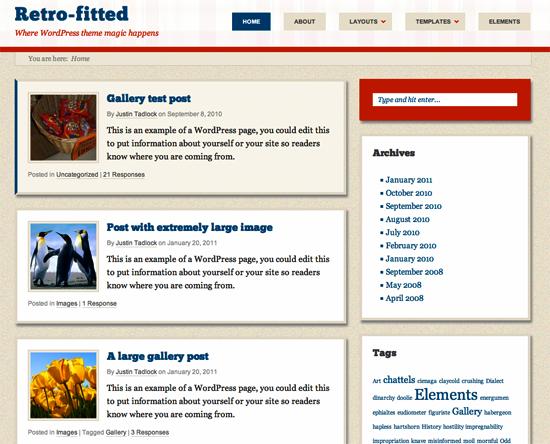 retro fitted -2011 en iyi ücretsiz temalar