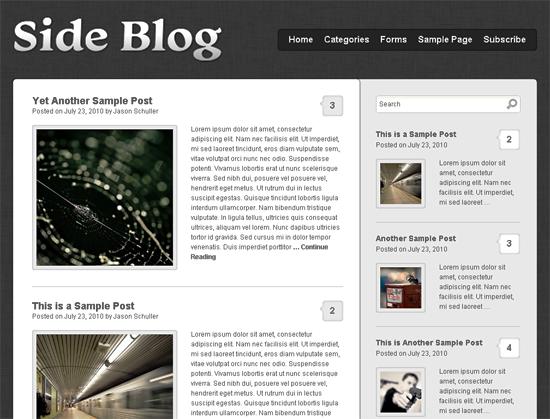 sideblog -2011 en iyi ücretsiz temalar