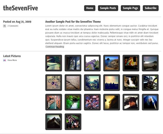 thesevenfive -2011 en iyi ücretsiz temalar