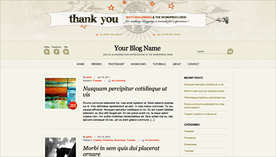 wpanniversarytheme -2011 en iyi ücretsiz temalar