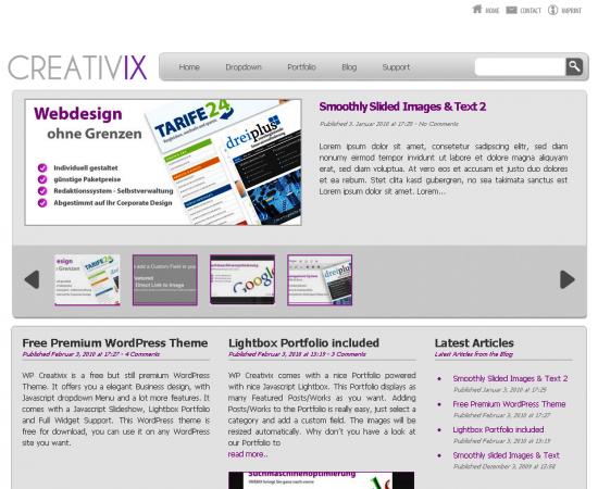 wpcreativix -2011 en iyi ücretsiz temalar