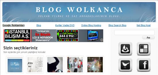 Blog Wolkanca tema yapıyoruz