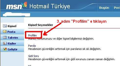 Msn hotmail hesabı kapatma 3