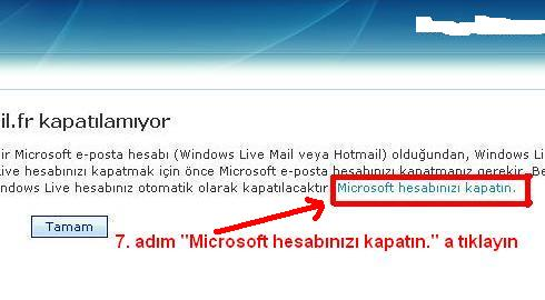 Msn hotmail hesabı kapatma 7