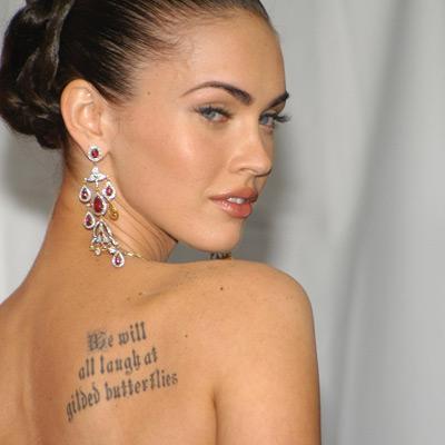 Megan Fox'un omzuna yakışmamı bu dövme sizce de?