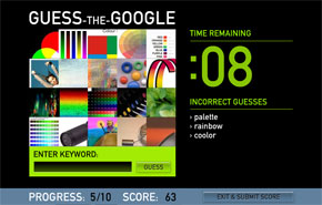 Google görsel arama terimi tahmin oyunu
