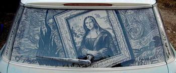 Kirli araba camları sanat