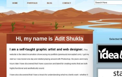 Portfolio of Adit Shukla - ekran görüntüsü
