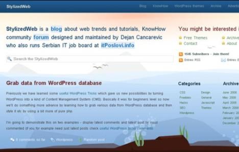 Stylized Web - ekran görüntüsü