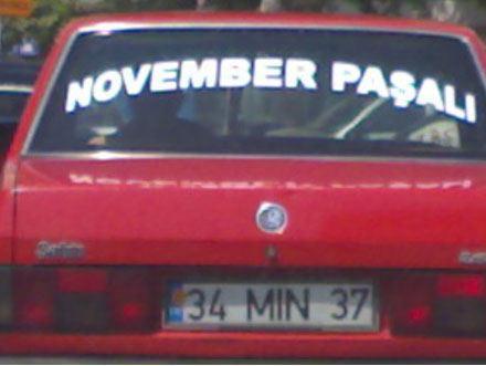 November paşalı