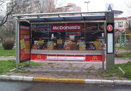 McDonalds Bus Stop Reklamı