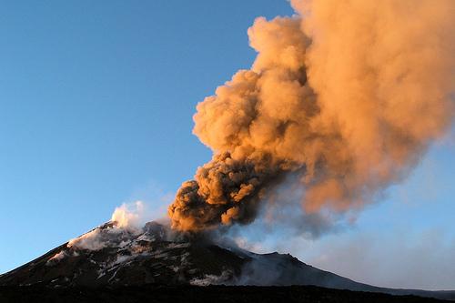 Etna Active Volcano Power