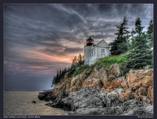HDR Bass Harbor Lighthouse, Acadia Maine v6 by kscherer11