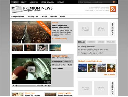 The Original Premium News -screen shot.