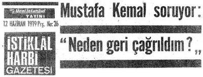 1919 gazete manşet