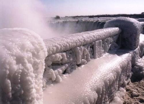 Niagara şelalesi 1919 da dondurulmuş