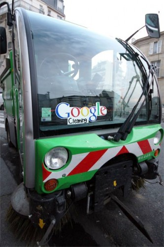 Google temizleme. Paris-France.