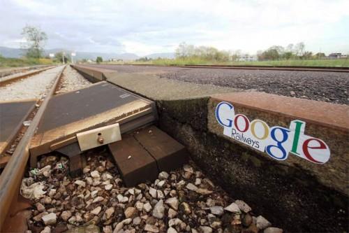 Google demiryolları. Brescia-Italy.