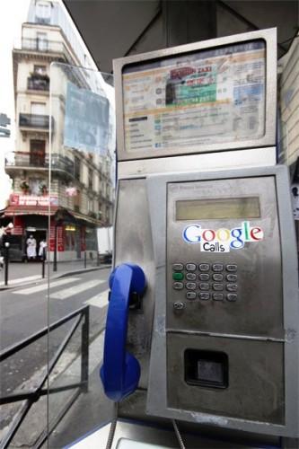 Google telefon. Paris-Fransa.