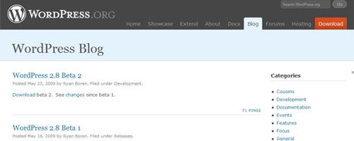 official WordPress blog