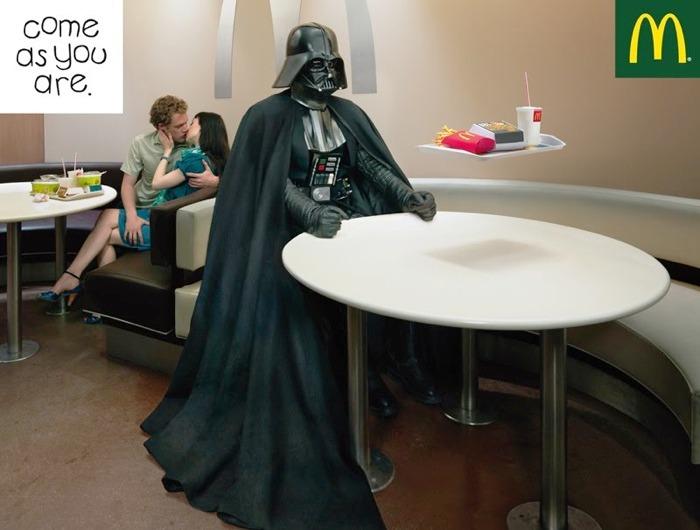 Vader bir reklam filminde oynasaydı Darth Vader