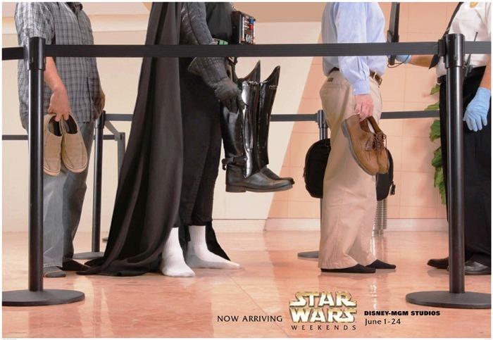 Ayakkabının çıkarılması gereken yerler Darth Vader