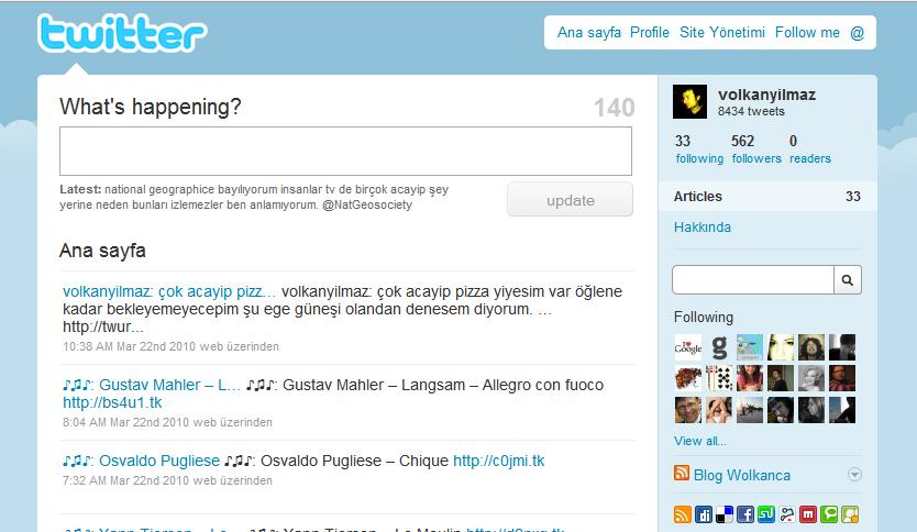 Tweetpress WordPress teması ile Twitter hesabınıza bağlı blog