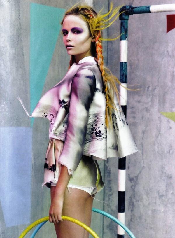 Natasha Poly fotoğrafları Vogue mart sayısı