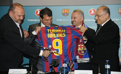 Türk Hava Yolları Barcelona futbol takımının ana sponsoru oldu
