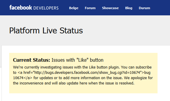 Facebook Live Status