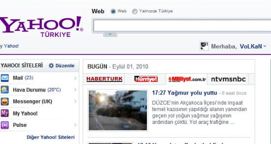 Yahoo! Türkiye yeni hali ile yayına alındı